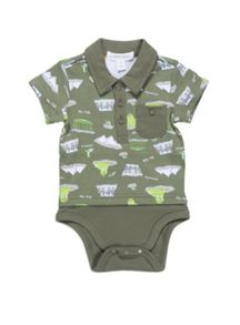 Baby boys polo bodysuit