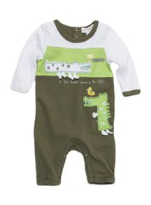 Baby boys croc all-in-one