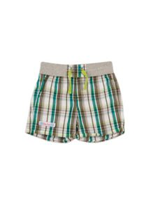Pumpkin Patch Baby boys check shorts