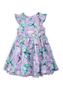 Girls watercolour floral dress