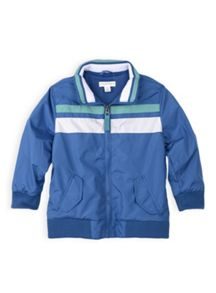 Boys chest stripe lined bomber jacket