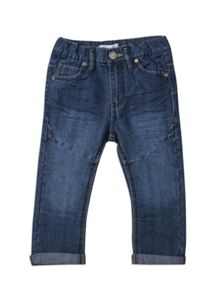 Boys slim fit roll up jeans