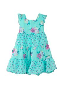 Girls multi floral chiffon dress