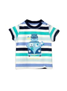 Baby boys are we there striped tee