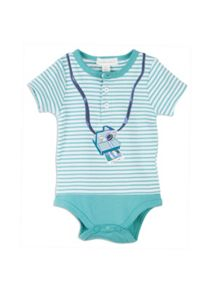 Baby boys stripe mock tee bodysuit