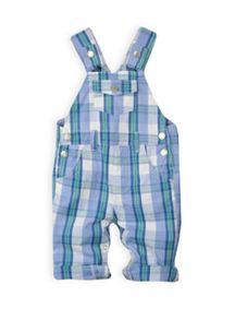 Baby boys check dungaree