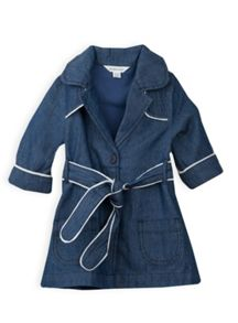 Girls piped trench coat