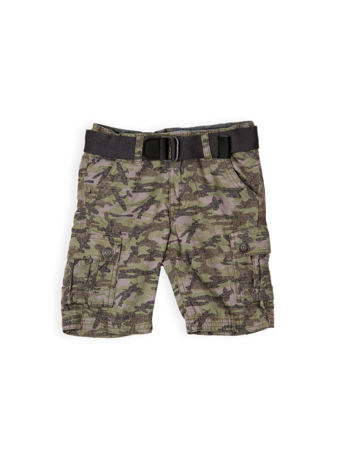 Boys w/s camo cargo short with belt