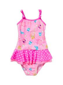 Baby girls paper doll swimsuit