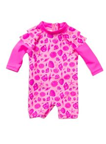 Baby girls shell sunsuit