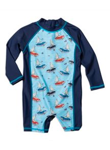 Boys cars sail sunsuit