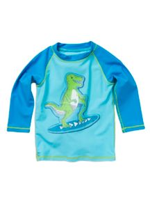 Pumpkin Patch Baby boys dino surf rash top