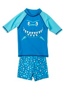 Boys shark rash set