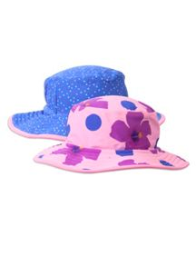 Pumpkin Patch Girls hibiscus sunhat