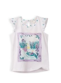 Girls lily pad print top