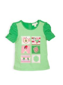 Girls patch fruit applique top