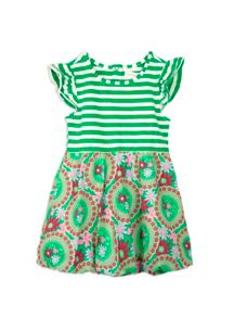 Girls stripe floral bubble dress