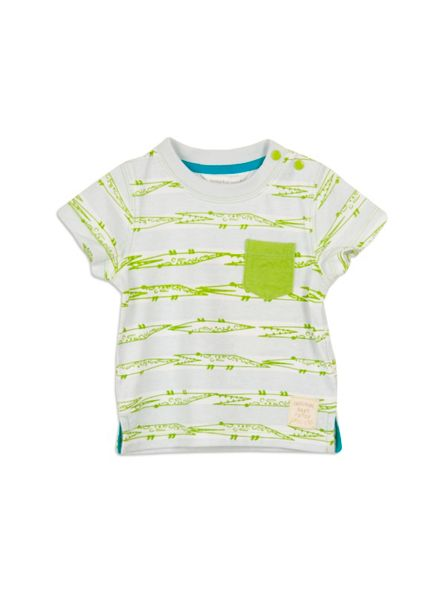 Pumpkin Patch Baby boys croc stripe tee