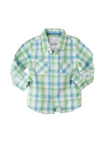 Boys check roll up shirt