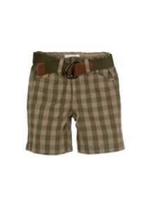 Boys gingham check chino shorts