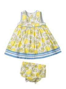 Baby girls spot dress with knickers