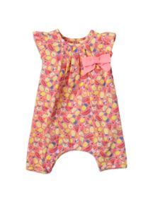 Baby girls fruit print all in one