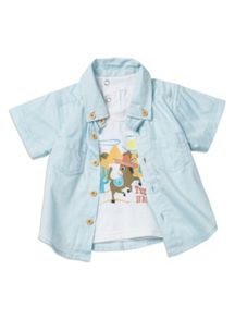 Baby boys mock tee shirt