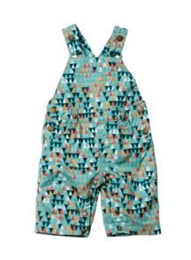 Baby boys print dungarees