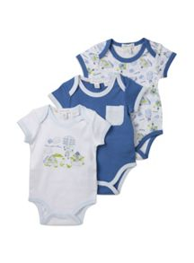 Baby boys 3pk adventure bodysuit