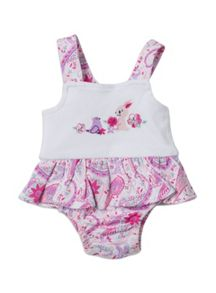 Baby girls bunny bodysuit