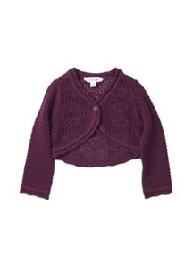 Girls w/s crochet cardigan