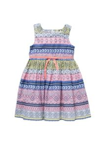 Girls aztec print dress