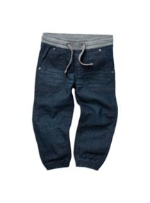 Boys marle waist denim jeans with cuffs