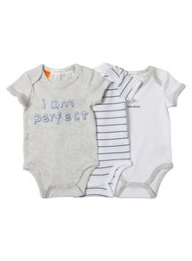 Baby boys 3 pack perfect bodysuits