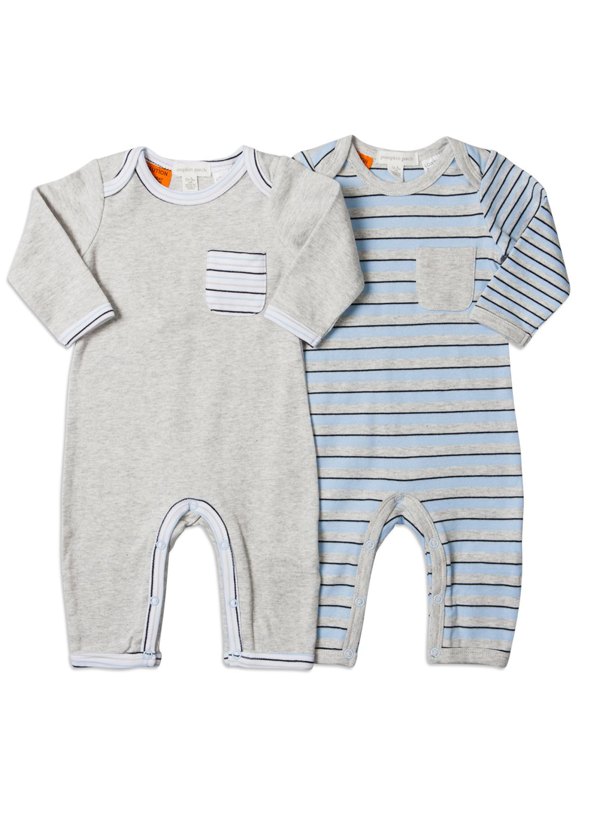 Pumpkin Patch Baby boys 2 pack all in ones