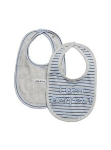 Baby boys 2 pack perfect bibs