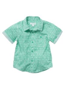 Boys printed ss roll up shirt