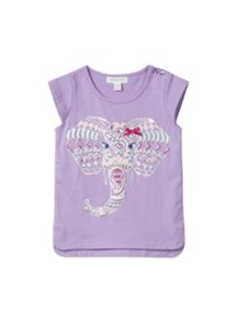 Girls elephant print top