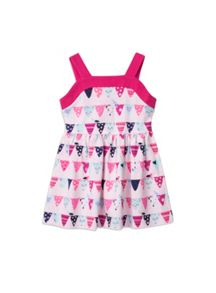 Girls knit flag print dress