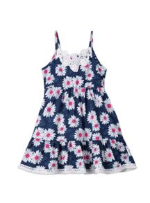 Girls knit daisy print dress