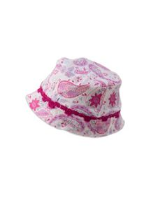 Baby girls lace trim sun hat
