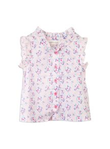 Baby girls palm print top