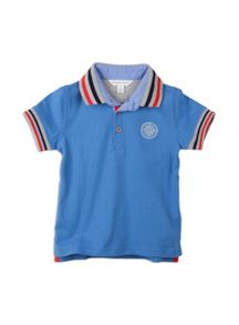 Boys short sleeve polo with appliques