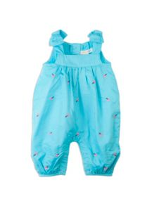 Baby girls embroidered dungarees