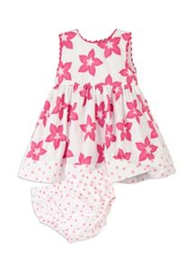 Baby girls hibiscus dress with knickers