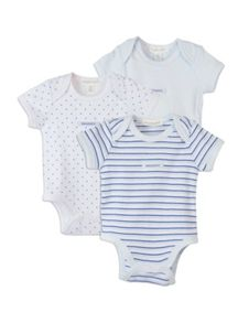 Baby boys 3 pack seal bodysuits