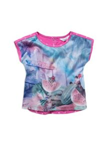 Girls watermelon cat top