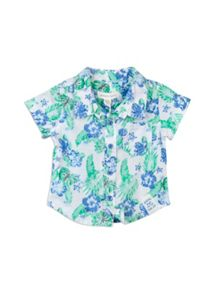 Baby boys retro floral shirt