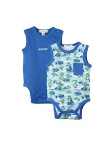 Baby boys 2pk sleeveless bodysuits