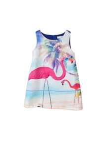 Girls flamingo beach dress